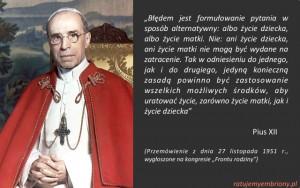Pius XII zycie dziecka i matki