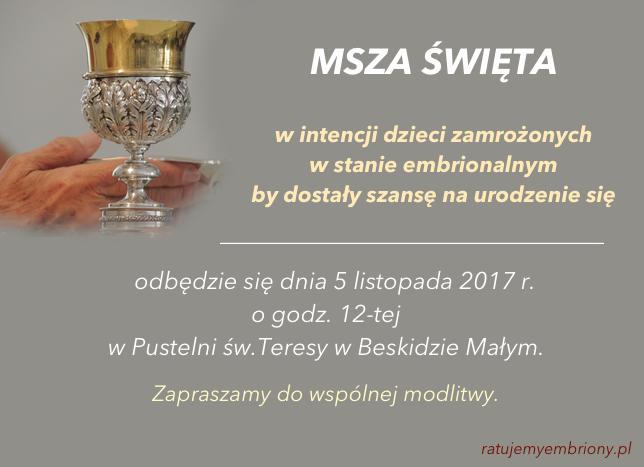 Msza sw - listopad 2017
