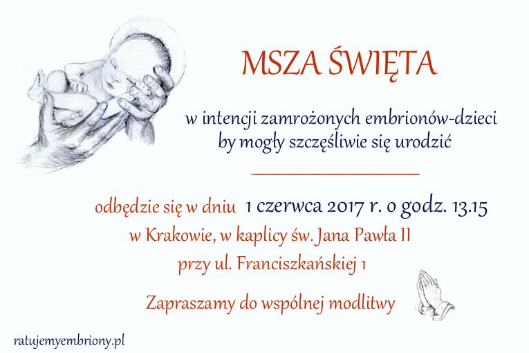 msza sw embriony - czerwiec 2017