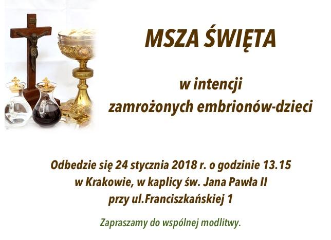 msza sw - styczen 2018 r.